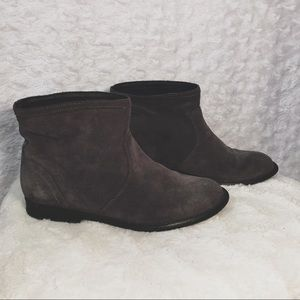 Aldo  Grey Suede Pull On Ankle Booties - 8-1/2